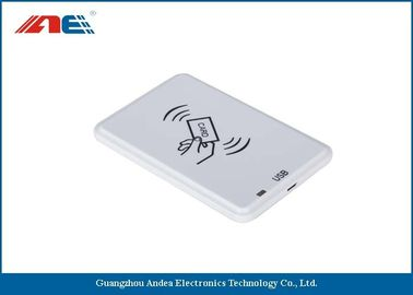 White HF USB RFID Reader For Passive RFID Tags Support Anti - Collision Algorithm